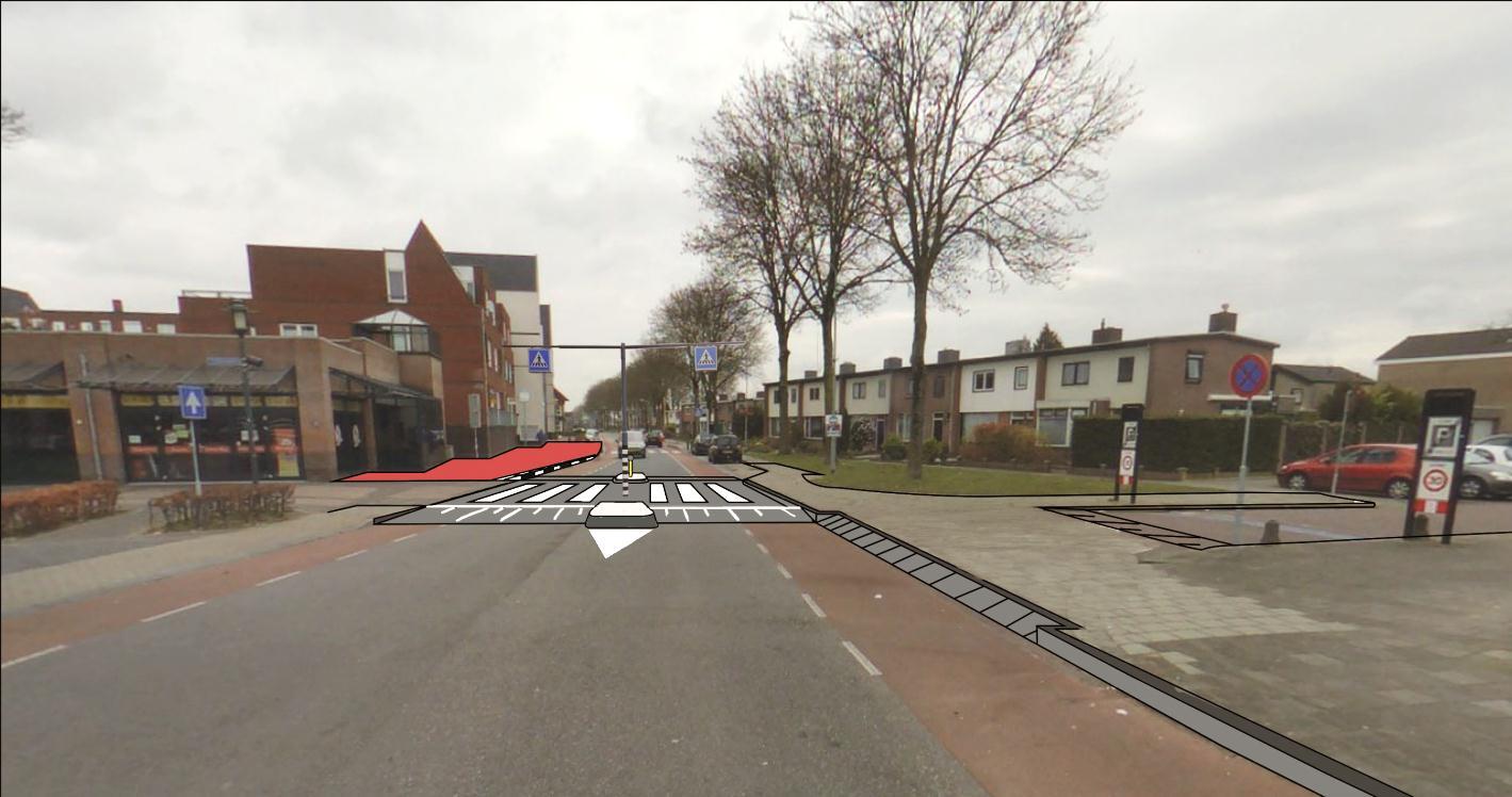 impressie verkeersmaatregelen Burgemeester Geradtslaan-Korhoenlaan (1)